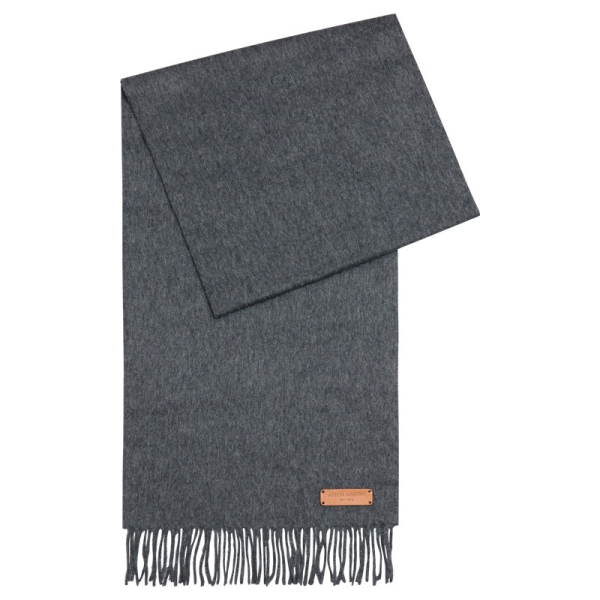 100% CASHMERE SCARF - CHARCOAL