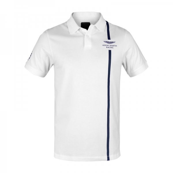 AMR Polo STRIPE white
