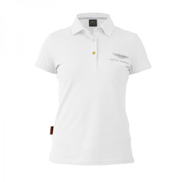 WHITE ASTON MARTIN POLO - LADIES