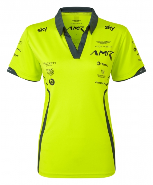 ASTON MARTIN RACING LADIES LIME GREEN POLO SHIRT