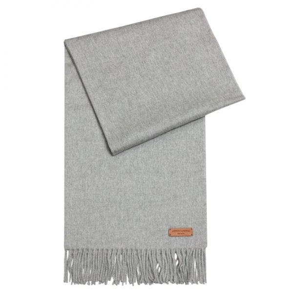 100% CASHMERE STOLE - LIGHT GREY